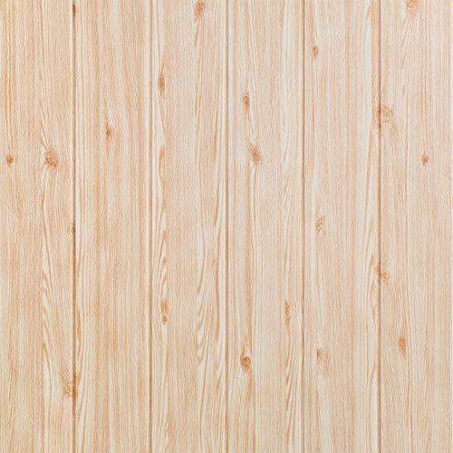 SQINAA Adhesivo 3D para Paneles de Pared con Papel Tapiz de ladrillo Impermeable Autoadhesivo para Pared de TV, baño, Cocina, Sala de Estar, decoración del hogar (10 Piezas),Beige
