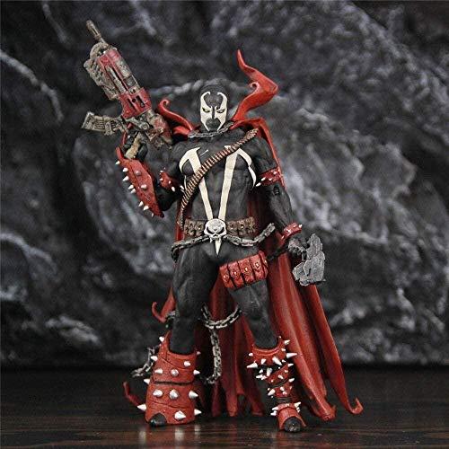 Hyzb Spawn Rebirth 7 Figura de acción BD Color Series Tops Blude Original Wave McFarlane Juguetes Coleccionable Modelo Estatua muñeca