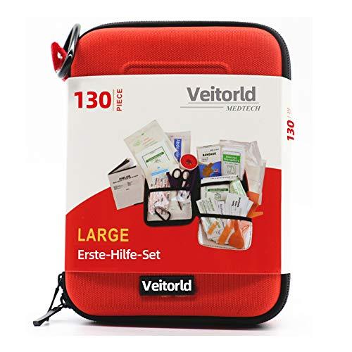 *Veitorld Erste-Hilfe-Set Erdbeben-Überlebenskit für Notfälle zu Hause, im Auto, Camping, Reisen, im Boot, Erste-Hilfe-Set für Schule, Büro, Fahrzeuge, Camping und Sport*