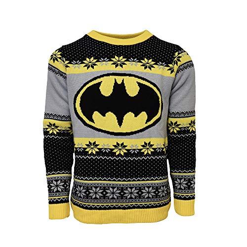 Official Batman Logo Ugly Christmas Sweater for Men or Women