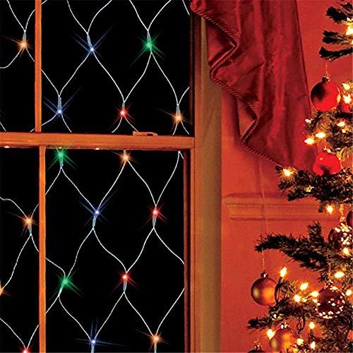 Preisvergleich Produktbild SUWIN 2x2m Fairy Light,  wasserdicht Nettolicht,  8 Arten blinkende Muster dekorative Lichter,  Feiertags-Party-Hochzeits-Dekoration (4 Farben,  144LED) Multicolor