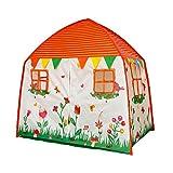 Homfu Tenda Casetta per Bambini e Bambine per Campeggio Esterno Tenda Giocattolo per Bambini con (White)