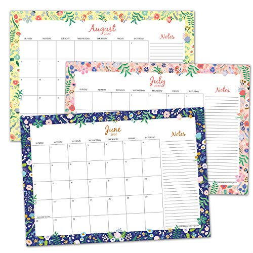Sweetzer & Orange 2020 Calendar. 16 Month Desk Calendar 2020-April 2021 – Floral Border Monthly Planner, Daily Desk Pad Calendars for Home or Office Organization. 12 x 17 Desktop or Wall Calendar