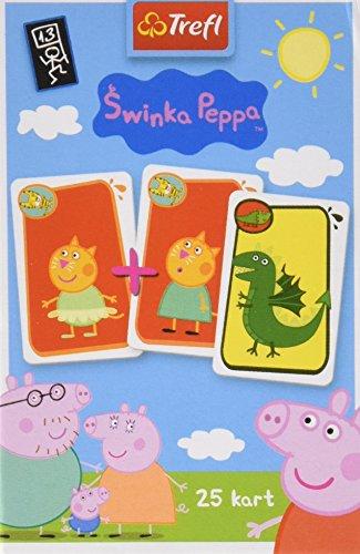 Trefl  Schwarzer Peter Kartenspiel mit den Helden von Peppa Pig / Peppa Wutz , 25 Karten