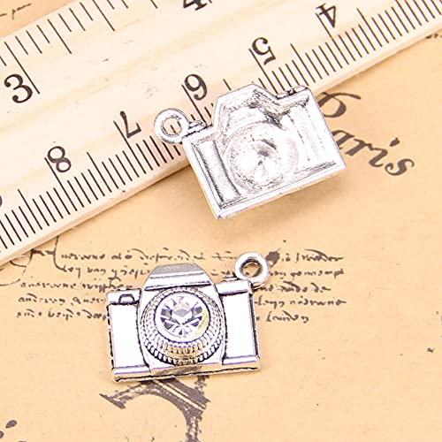 WANM 10 Pcs Charmes Caméra 20X16Mm Antique Pendentif Vintage Tibétain Bijoux en Argent DIY pour Bracelet Collier