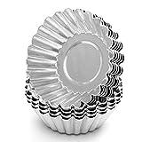 Egg Tart Mold Mini-Torte Pfannen Kuchen-Kuchen-Plätzchen-Form-Muffin-Backen-Cup ausgekleidete Form Tin (10Pcs Weave Aluminium)