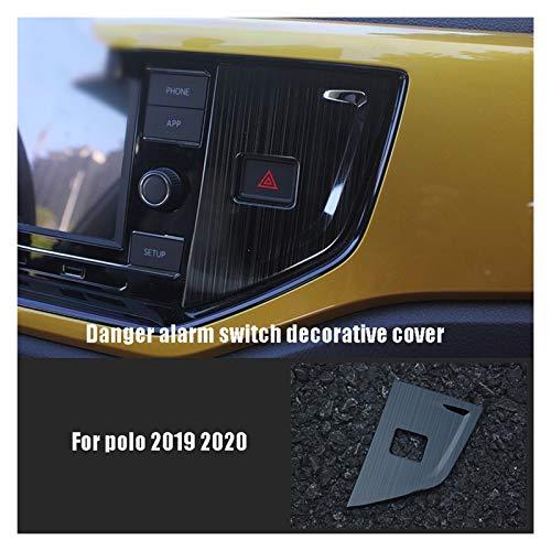 MeiZi FIT FOR Volkswagen FIT FOR VW Polo 2019 2020 Accesorios para automóviles Cubierta Decorativa del Interruptor de Alarma del Peligro (Color Name : Black)