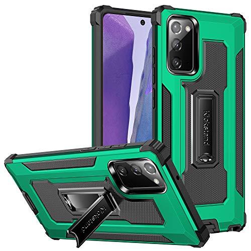 Hülle für Samsung Galaxy Note 20 Handyhülle Dual-Layer Stabil Ständer 360 Protection Metallring TPU+PC Magnetisch Panzerhülle Stoßfestes Anti-Drop Schutzhülle mit Galaxy Note 20 Hard Case (f)