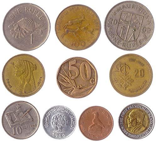 10 Monedas Diferentes De 10 Países Africanos Diferentes.