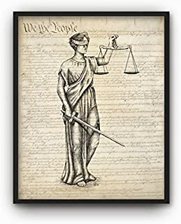 MS Fun Justice Lawyer Attorney Office Lady Nursery Canvas Art Print for Home Decoration..