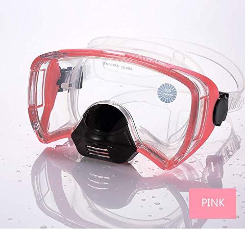 Duikmasker voor volwassenen, professioneel design, anti-condens en anti-lek, materiaal van voedselveilige silicone, verstelbare riem, veilig, niet giftig en zonder gevaar, geschikt voor mannen en vrouwen