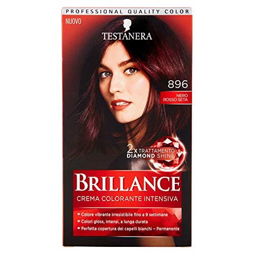Schwarzkopf, Brillance, Crema Colorante Intensiva Permanente, 896 Nero Rosso Seta