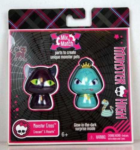 Monster High - T8004 - Accessoire - Duo Monstres Croissant & Hissette