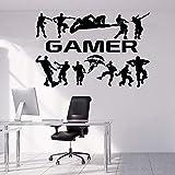 Juego elige tu arma, videojuego, vinilo, pegatina de pared 3D, vinilo creativo, pegatina de pared, Mural, decoración artística