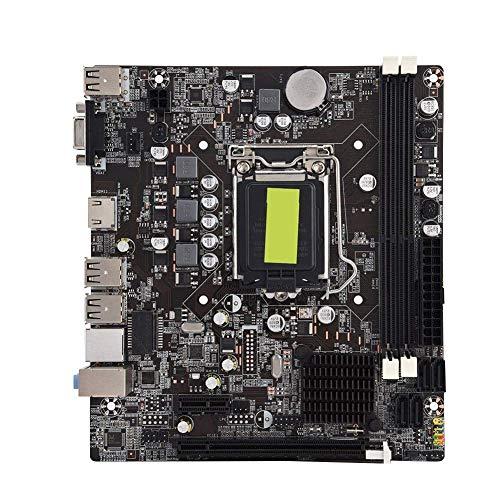 Diyeeni Placa Base de Estado sólido de Alto Rendimiento Computadora H61 Placa Base B Modelo DDR3 Memoria 4 USB2.0, frecuencia de Filtro eficiente y Estable de Larga duración