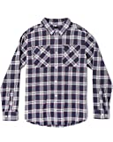 RVCA Men's Thatll Work Flannel Long Sleeve Woven Shirt, Moody Blue, XXL