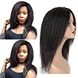 Ur Beautiful Yaki Straight Human Hair Wigs No Lace Kinky Straight Human Hair Wigs Kinky Wigs Pelucas De Cabello Humano Natural Color 12 INCH