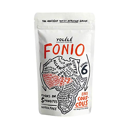 Yolélé Fonio - High Protein - Gluten-Free - Fast Cooking - Vegan - African Ancient Grain - Premium Quality - 3 x 10oz (30oz)