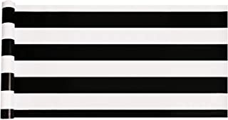 Emoyi White & Black Striped Wallpaper Self-Adhesive Shelf Drawer Liner 17.7 Inch by 98 Inch