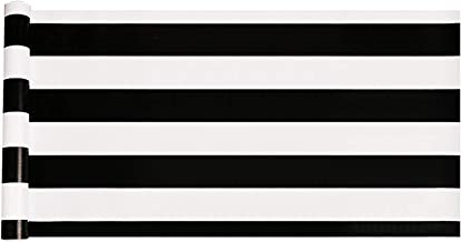 Emoyi White & Black Striped Wallpaper Self-Adhesive Shelf Drawer Liner 17.7 Inch by 98 Inch