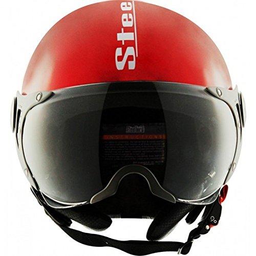 Steelbird SB-27 Style Glossy cherry red, 600mm, plan visor Helmet