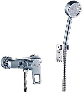 Li@ Cuarto de baño de Cobre Completo con Grifo Caliente y fría Tome un baño Calefactor de Agua de Boquilla Mezclador de Agua de Ducha Conjunto de Ducha