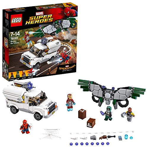 LEGO Super Heroes - Cuidado con Vulture, Juguete de Construcción con MiniFiguras de Iron-Man y Spiderman (76083)