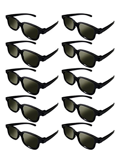 heavy duty Lots of 10x polarized glasses with RealD 3D technology for TV / film / movies / HD