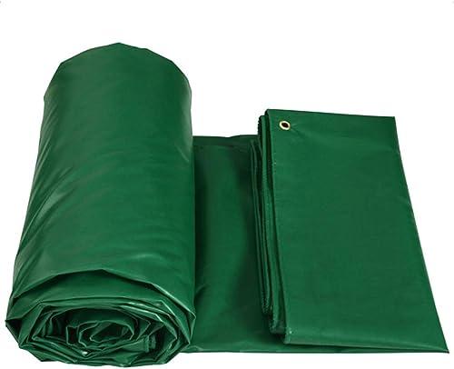 Bache Bache imperméable Lourde - Feuille de bache Verte - Couverture de qualité supérieure en bache de 450 grammes mètre carré Camping et randonnée (Taille   10m6m)