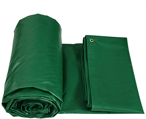 Bache Bache imperméable Lourde - Feuille de bache Verte - Couverture de qualité supérieure en bache de 450 grammes mètre carré Camping et randonnée (Taille   3m3m)