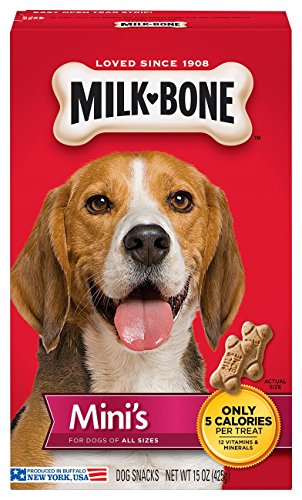 MilkBone Original Dog Treats Biscuits for Dogs of All Sizes Mini Treats 15 Ounces Pack of 6