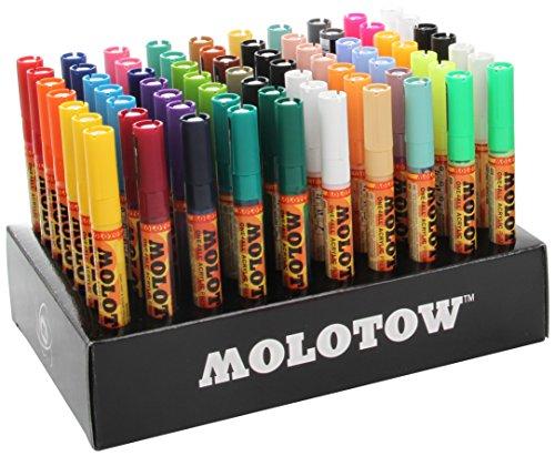 Molotow One4All 127HS Acryl Marker Complete (Display-Set, 2 mm Spitze, hochdeckend und permanent, UV-beständig, für fast alle Untergründe) 70 Stück sortiert