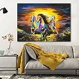 Caballo animal cuadro lienzo pintura pintura graffiti pared arte salón pintura al óleo lienzo sin marco pintura A 40x50cm
