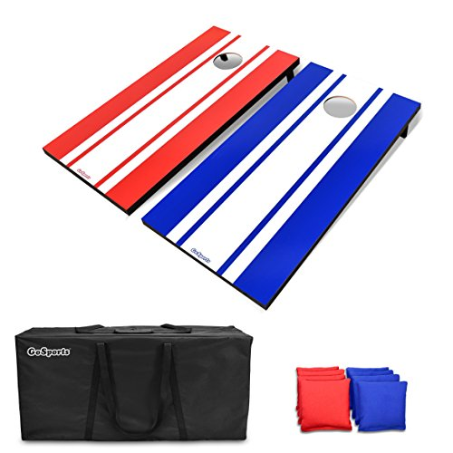 GoSports Classic Cornhole Set - Includes 8 Bean Bags, Travel Case and Game Rules (Choose between Classic, American Flag, and...