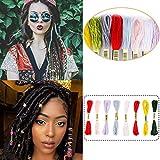 Miman Hair String For Braids Dreadlocks DIY Colorful Styling Hair...