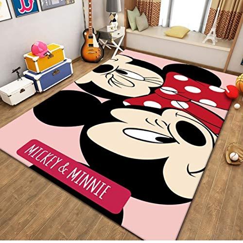 llc Alfombra Lavable Decoración del Hogar Baño Pasillo Alfombras Antideslizantes Sala De Estar Alfombras De Puerta De Dormitorio Moderno Rectangular Salvaje De Dibujos Animados Mickey