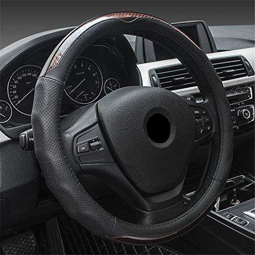 Autolenkradabdeckung Kohlefaser Leder Autolenkradabdeckung für Hyundai Elantra Tucson Mistra Verna Sonate IX25...