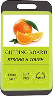 Kitchen Cutting Board, BPA-Free, Dishwasher Safe, Juice Grooves, Thicker Boards, Easy Grip Handle, Non Porous, 2 Pack  (Sm...
