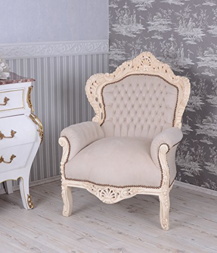 BAROCK Sessel Vintage Shabby CHIC Weiss Palazzo Exclusiv