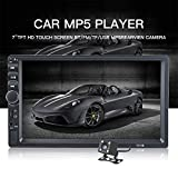 Riloer 2DIN Autoradio HD 7'Double Bluetooth Car Stéréo USB Touch MP5 Player Nouveau