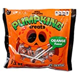Florestal (1) bag Pumpking Treats Orange Flavor Ball Lollipop Halloween Candy - 17 Individually Wrapped Pieces per Bag - Nut & Gluten Free - 7.2 oz