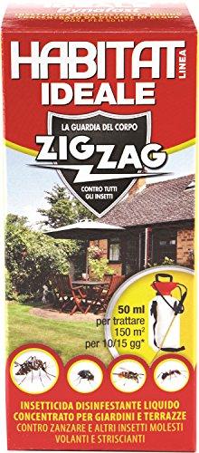 Zig Zag, Habitat, Insetticida concentrato, Flacone di plastica con misurino dosatore, per...