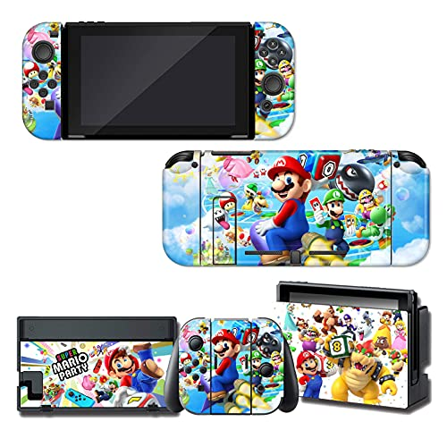 Anime Switch Skin Cartoon Animal Vinyl Decal Stickers Protector Skin Cover Protective Faceplate Full Set Console Joy-Con Dock