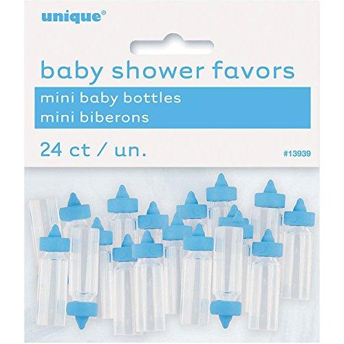 Babyparty-geschenken, blauw 2,5 cm blauwe flessen. blauw
