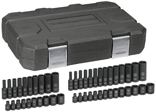 GEARWRENCH 48 Pc. 1/4' Drive 6 Point Standard & Deep Impact SAE/Metric Socket Set - 84902