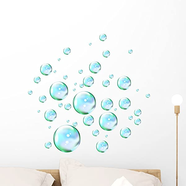 Wallmonkeys Liquid Bubbles Wall Decal Peel And Stick Graphic WM230841 24 In H X 23 In W