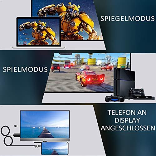 MHL zu HDMI Kabel 2M, Weton 2 in 1 USB Typ C/Micro USB auf HDMI Kabel 1080P HDTV Telefon zu HDMI Adapter für Android Smartphones Samsung LG Huawei,Digitaler AV Adapter zu TV Monitor Projektor