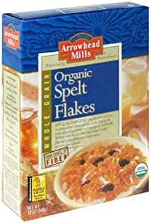Arrowhead Mills Organic Spelt Flakes Cereal, 12 Ounce (Pack of 12)