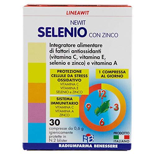 Newit Selenio con Zinco Lineawit, Integratore Alimentare, 30 Compresse, 18 g