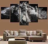 Leinwand wandkunst HD druckbild mann heben hantel malerei schlafzimmer dekoration gewichtheben...